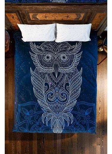 home-bath Çift Kişilik Nevresim Ve Duvar Örtüsü Seti-Owl Renkli
